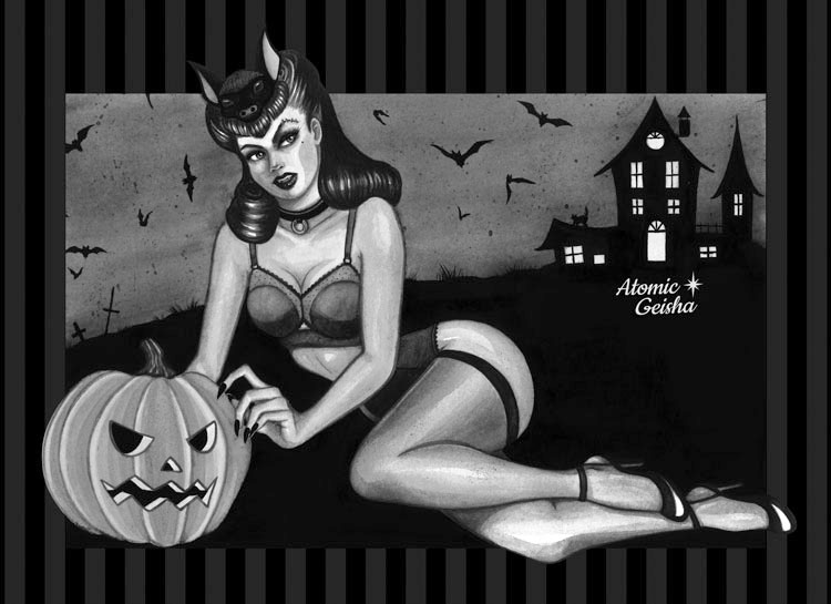 batlady pin-up monster