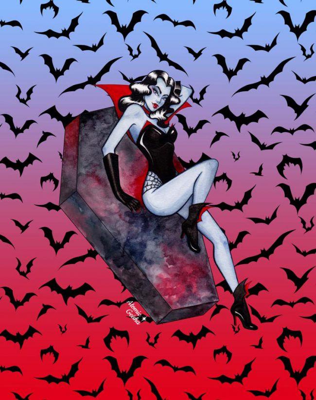 Glampire illustration vampire art