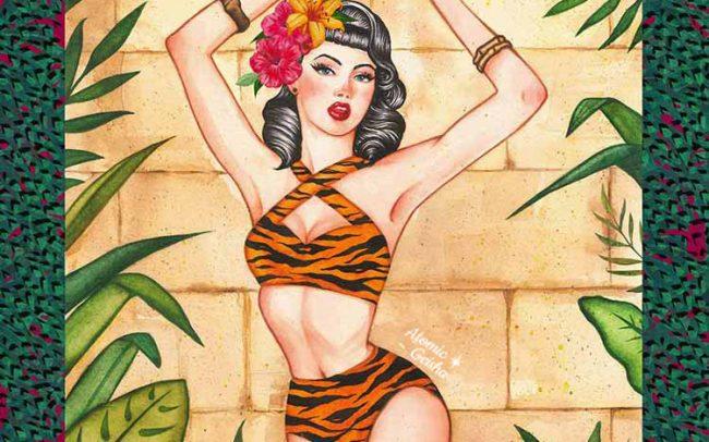 tiki jungle queen artwork print