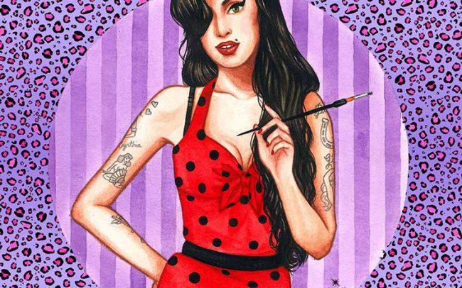 amy winehouse illustration