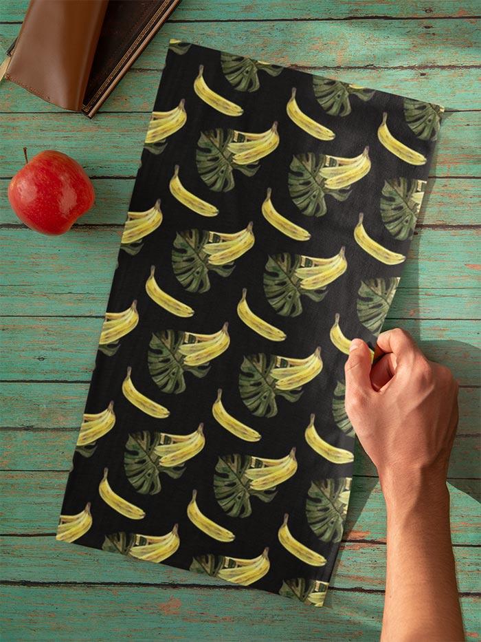 banana and monstera bandana