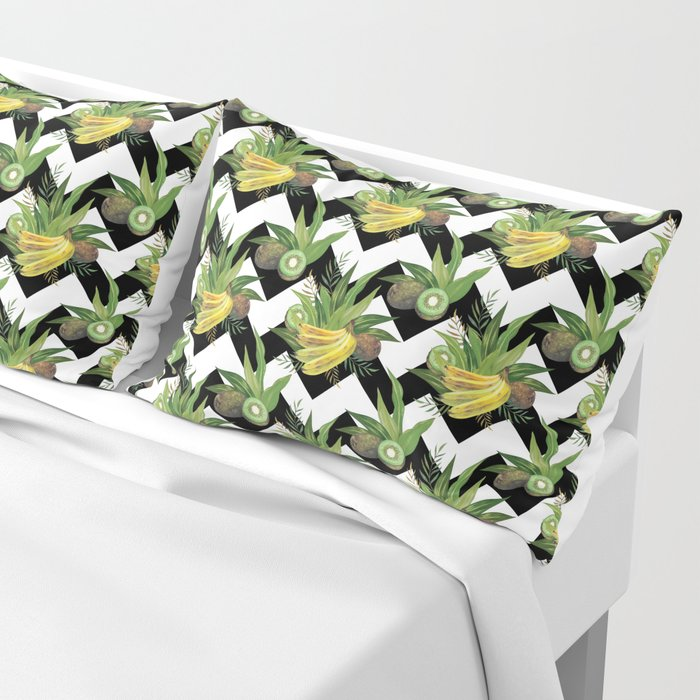 bananas-and-kiwis-zigzag-shams-pillow-covers