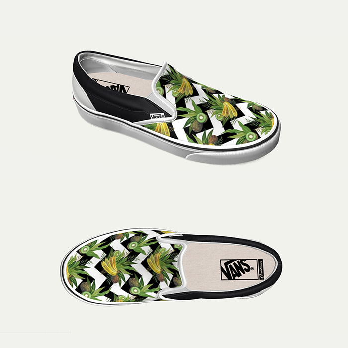 bananas and kiwis zigzag vans