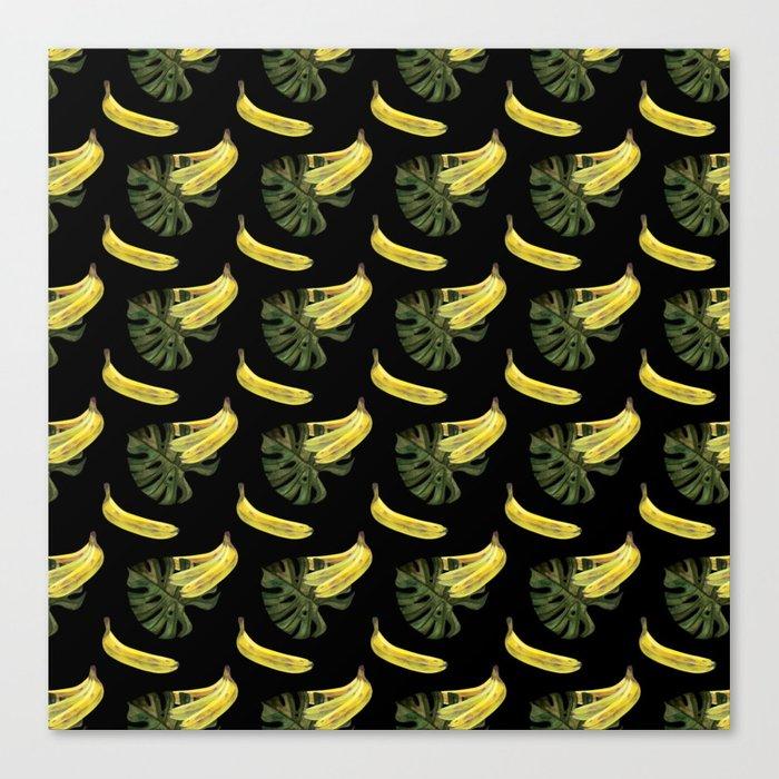 bananas monstera pattern