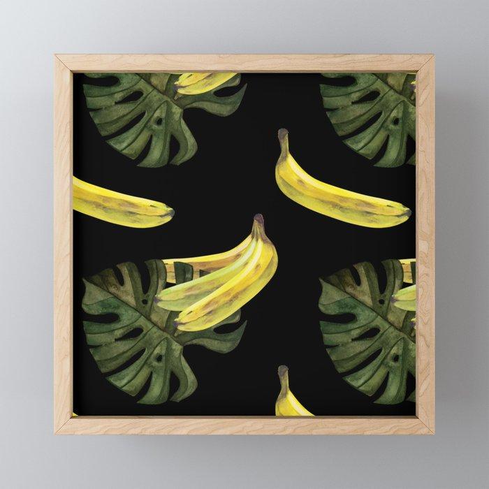 bananas-and-monstera-black-framed-mini-art-prints