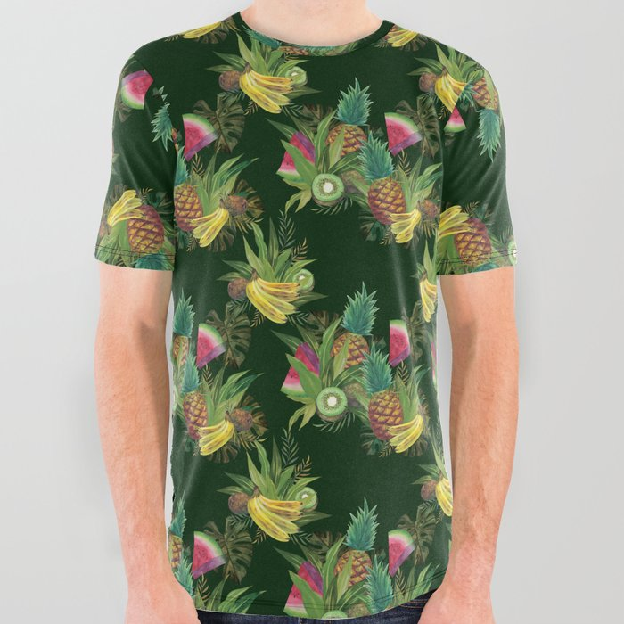 fruits-basket-1-forest-green-all-over-graphic-tees
