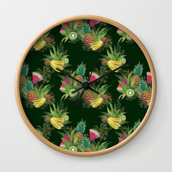 fruits-basket-1-forest-green-wall-clocks