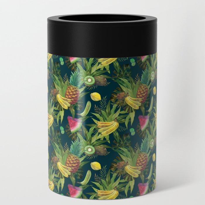 tropical pattern fruits basket 2 coffee travel mug