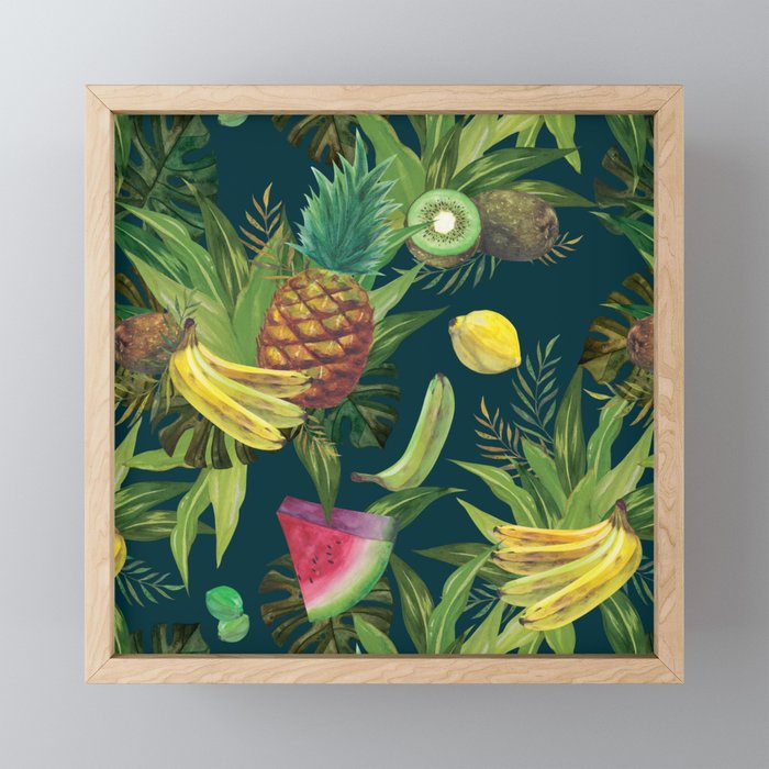 tropical pattern fruits basket 2 tray