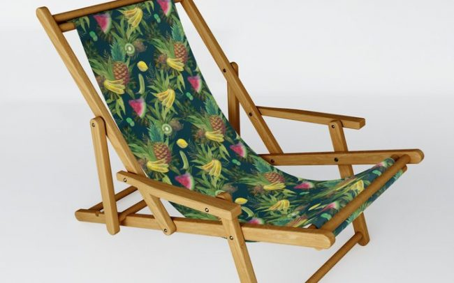 tropical pattern fruits basket 2 chair