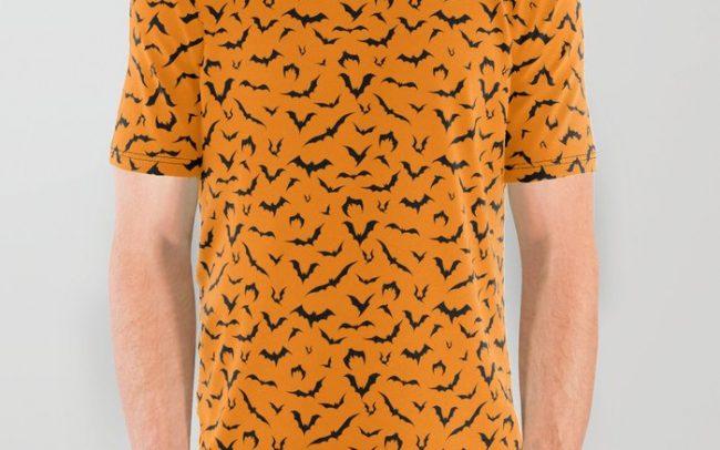 bats halloween orange