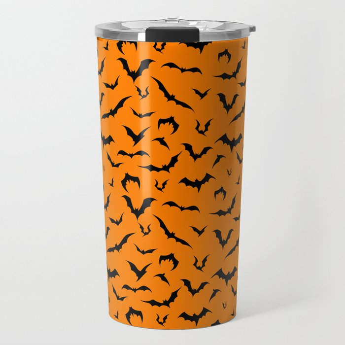 bats halloween orange