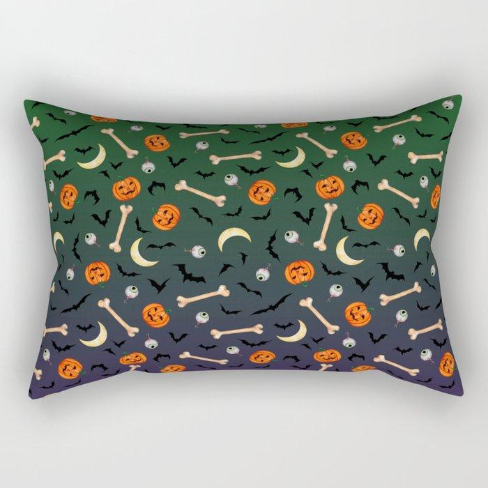 halloween pumkin bats bones print
