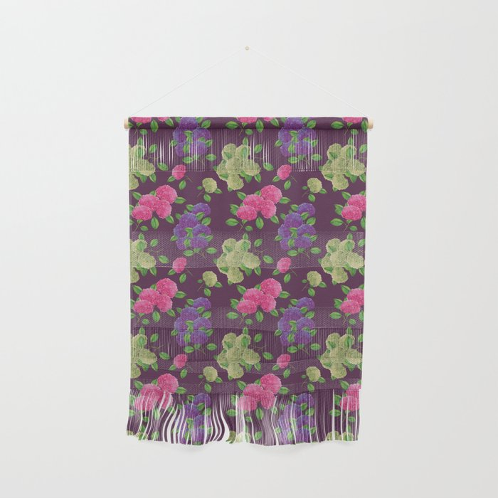 hydrengea flower pattern purple