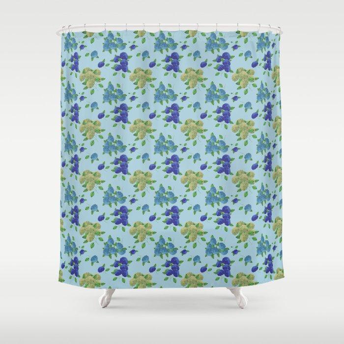 blue hydrangea pattern design