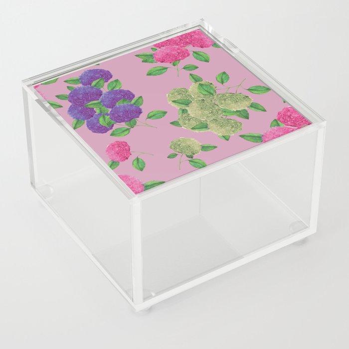 rose hyndrangea art print