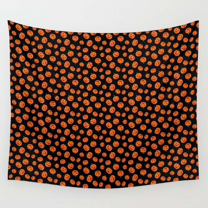 Jack-o-lantern print pattern