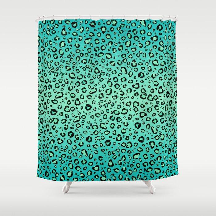 leopard print aqua atomic geisha