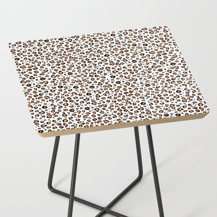 leopard print table faux fur