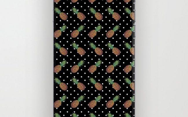 polkadot print with pineapples