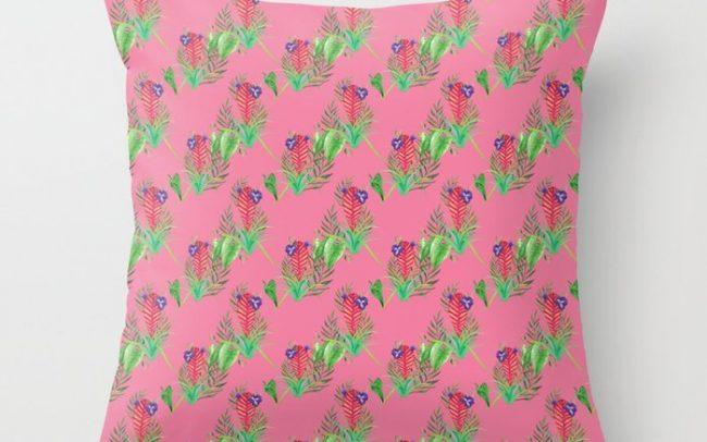 pink quil pattern art illustration