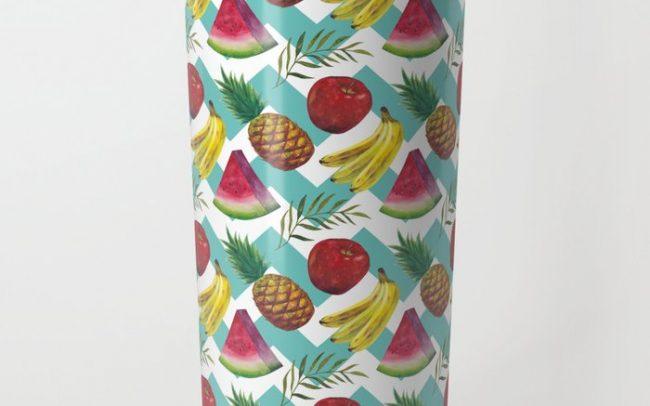 summer melon banane print pattern