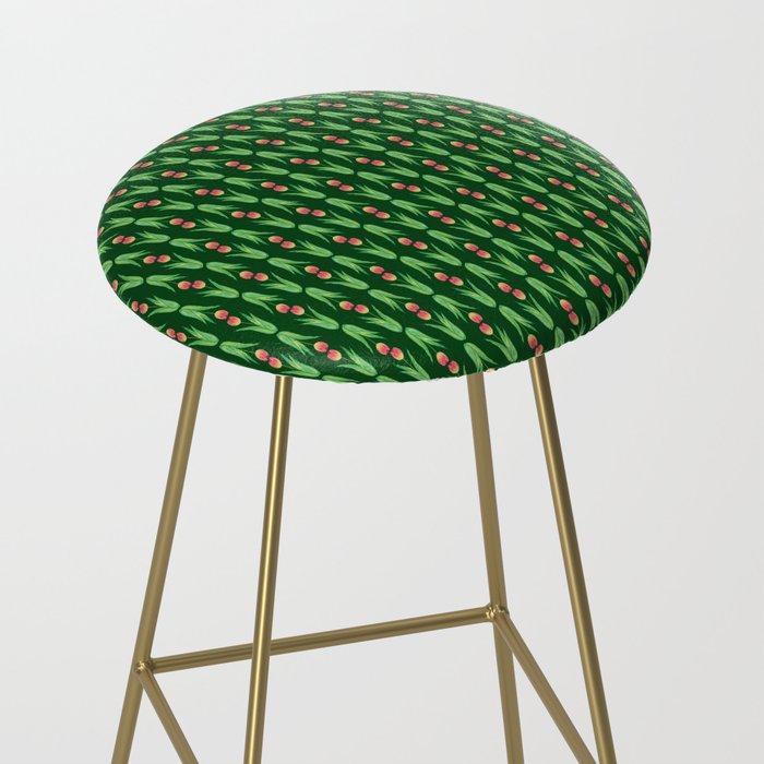 tulips print pattern stool