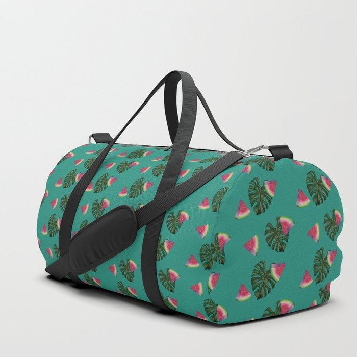 watermelon monstera print pattern