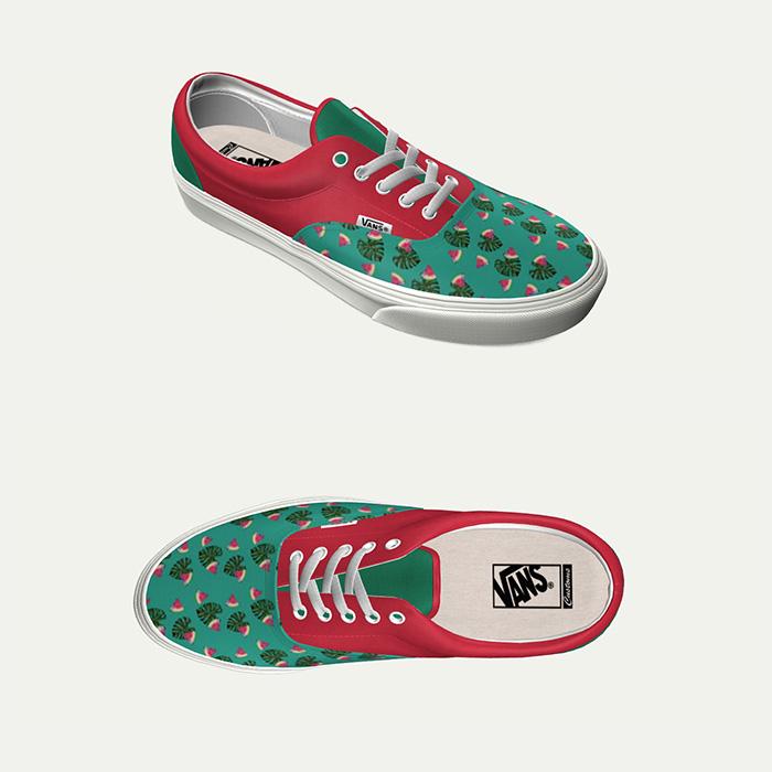 watermelon monstera vans