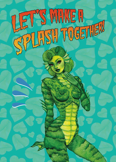 postcard creature of black lagoon pinup