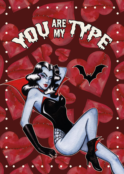 vammpire postcard you are my type