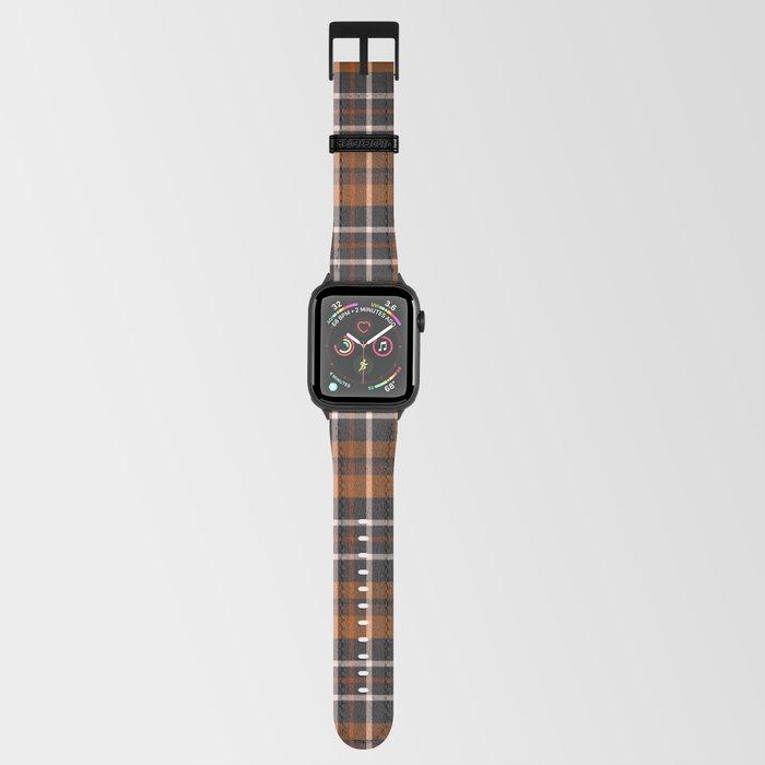 pumpkin spice plaid apple watch strap