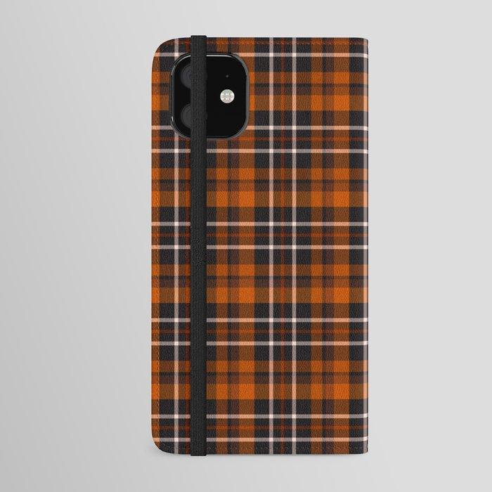 pumpkin spice plaid iphone wallet