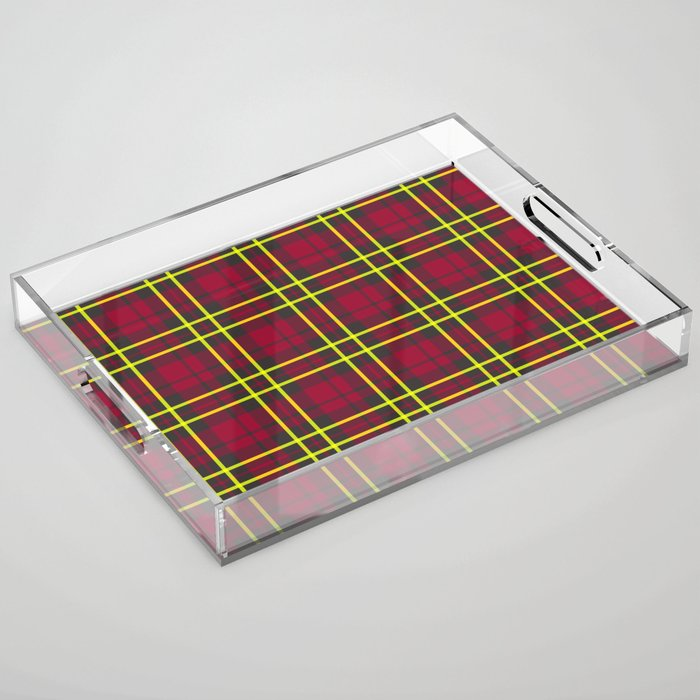 berry lime plaid serving tray