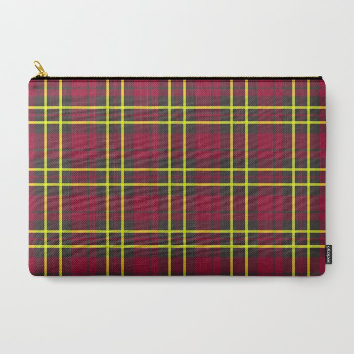 berry lime plaid wallet pouch