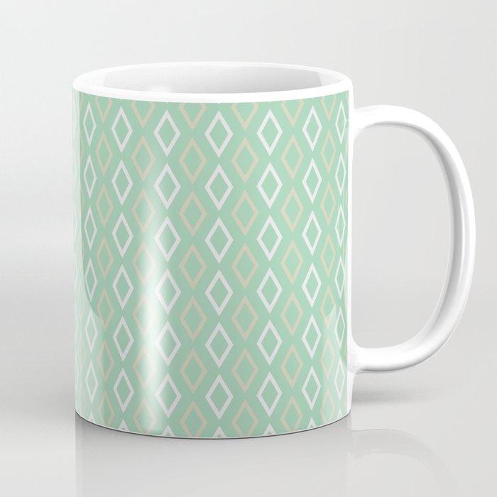 mint peach diamonds mug