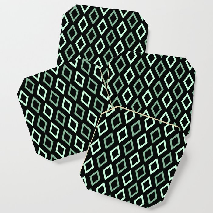 black mint diamonds coasters