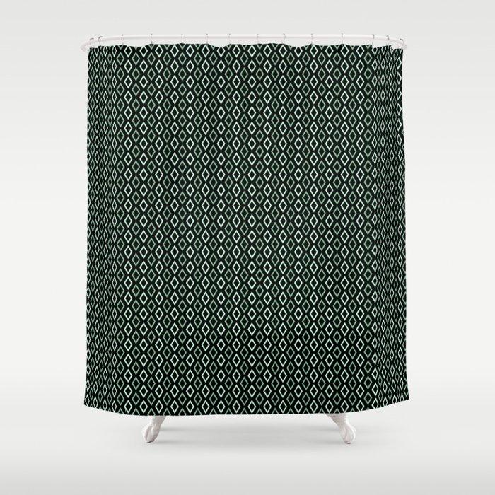 black mint diamonds shower curtain