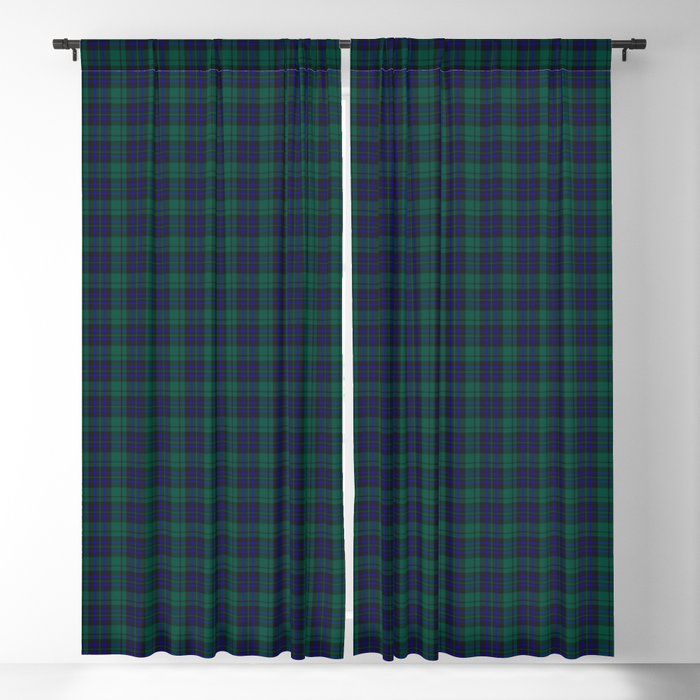 green blue plaid curtains