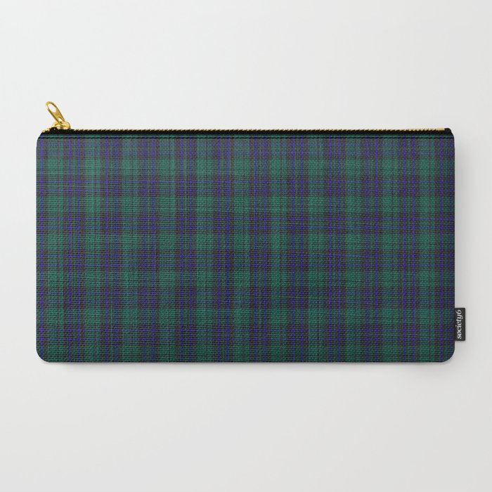 green blue plaid pouch