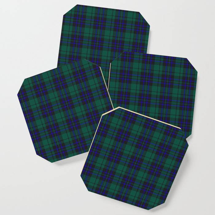green blue plaid coasters