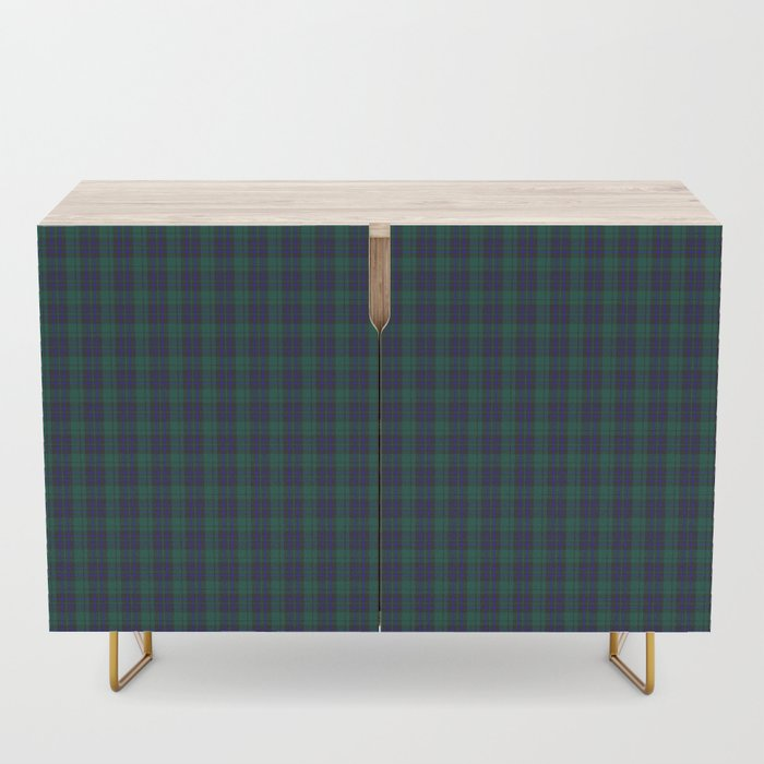 green blue plaid credenza 2