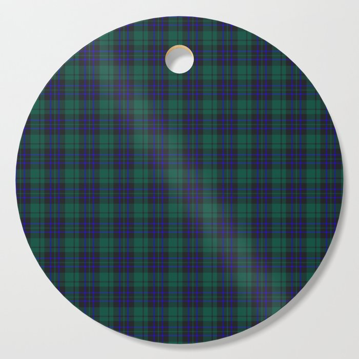 green blue plaid cutting board