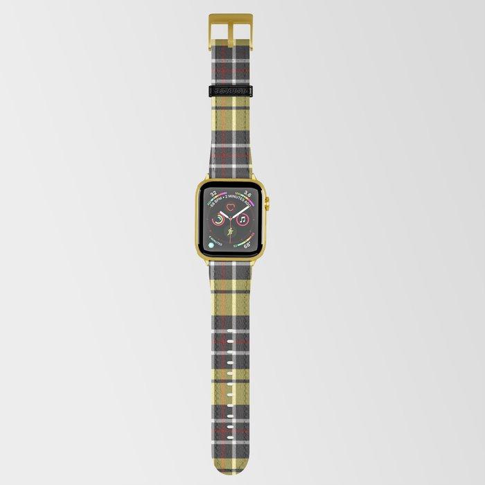 yellow-grey plaid apple watch strap