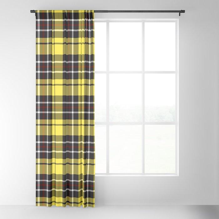 yellow-grey plaid curtain