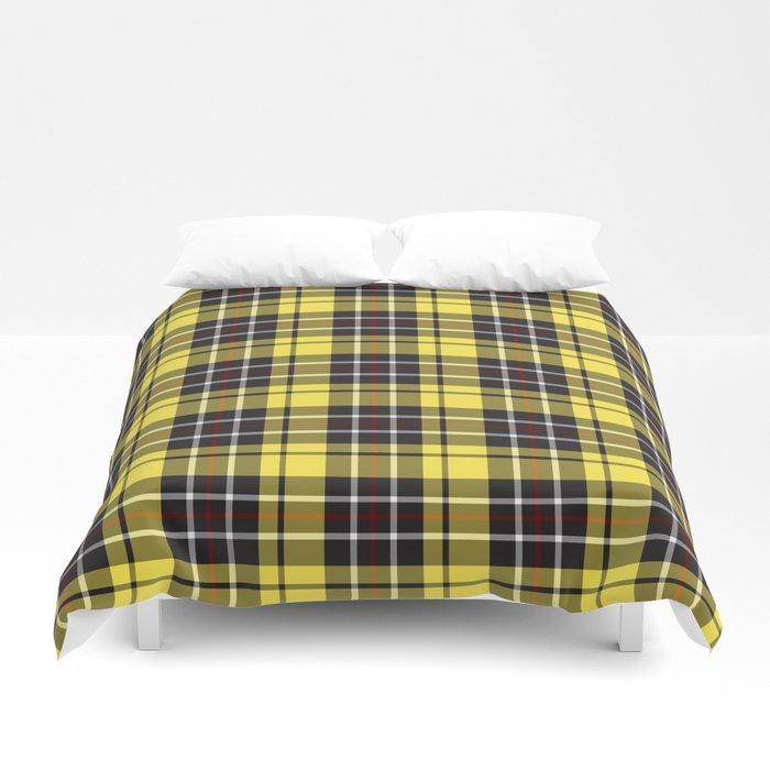 yellow-grey plaid bed sheets duvet