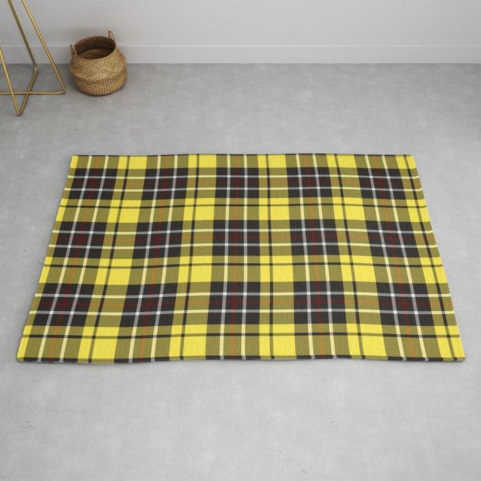 yellow-grey plaid rug
