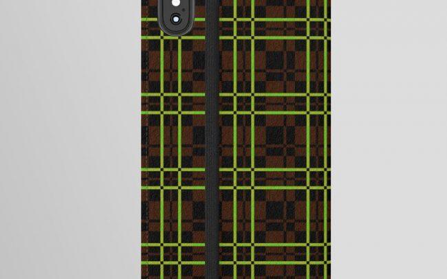 mid-century-abstract-tartan-iphone-wallet-cases