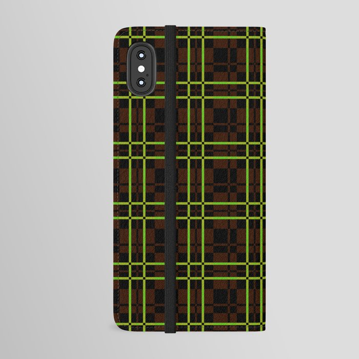 mid-century-abstract-tartan-iphone-wallet-cases