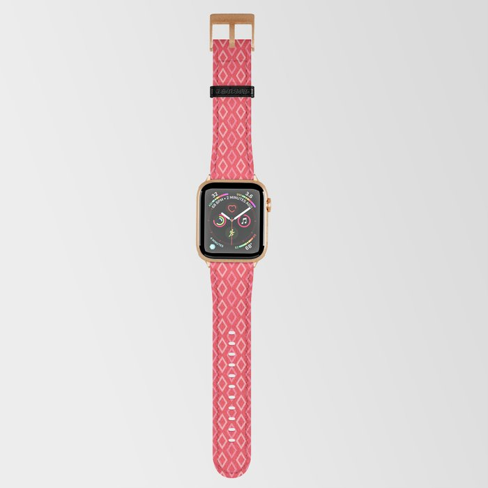 coral diamonds apple watch strap